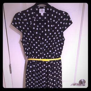 Suzi Chin for Maggy boutique black and white dress